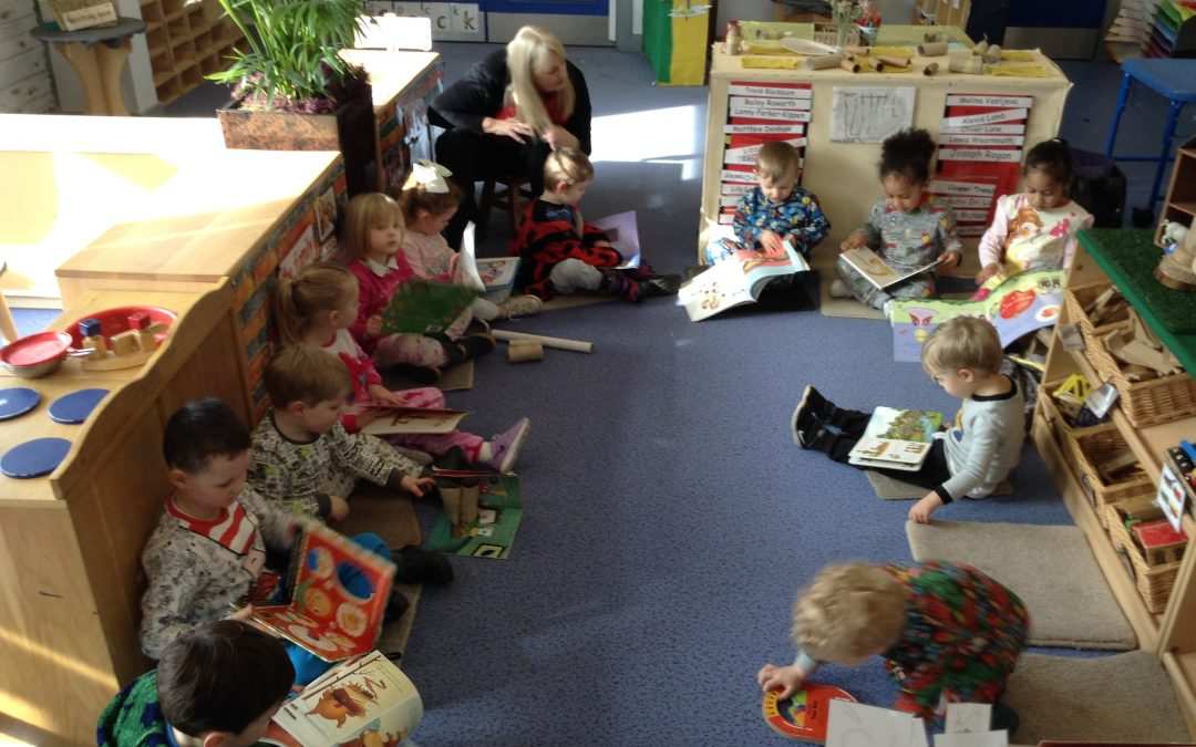 Nursery joined in with World Book Day celebrations