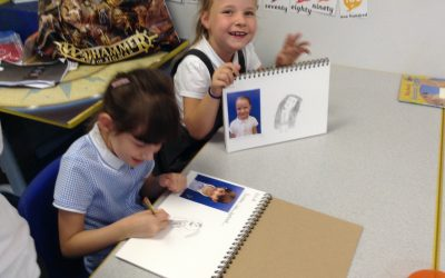 Starting our self-portraits