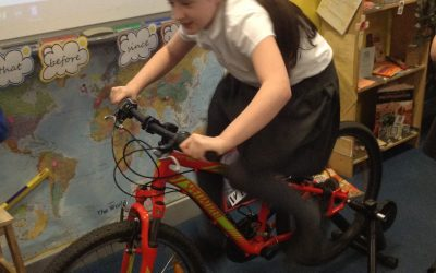 Bike-it-Ben: Turbo Maths. How far and how fast can you pedal a bike?