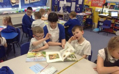 A few from World Book Day… Reading with 6R!