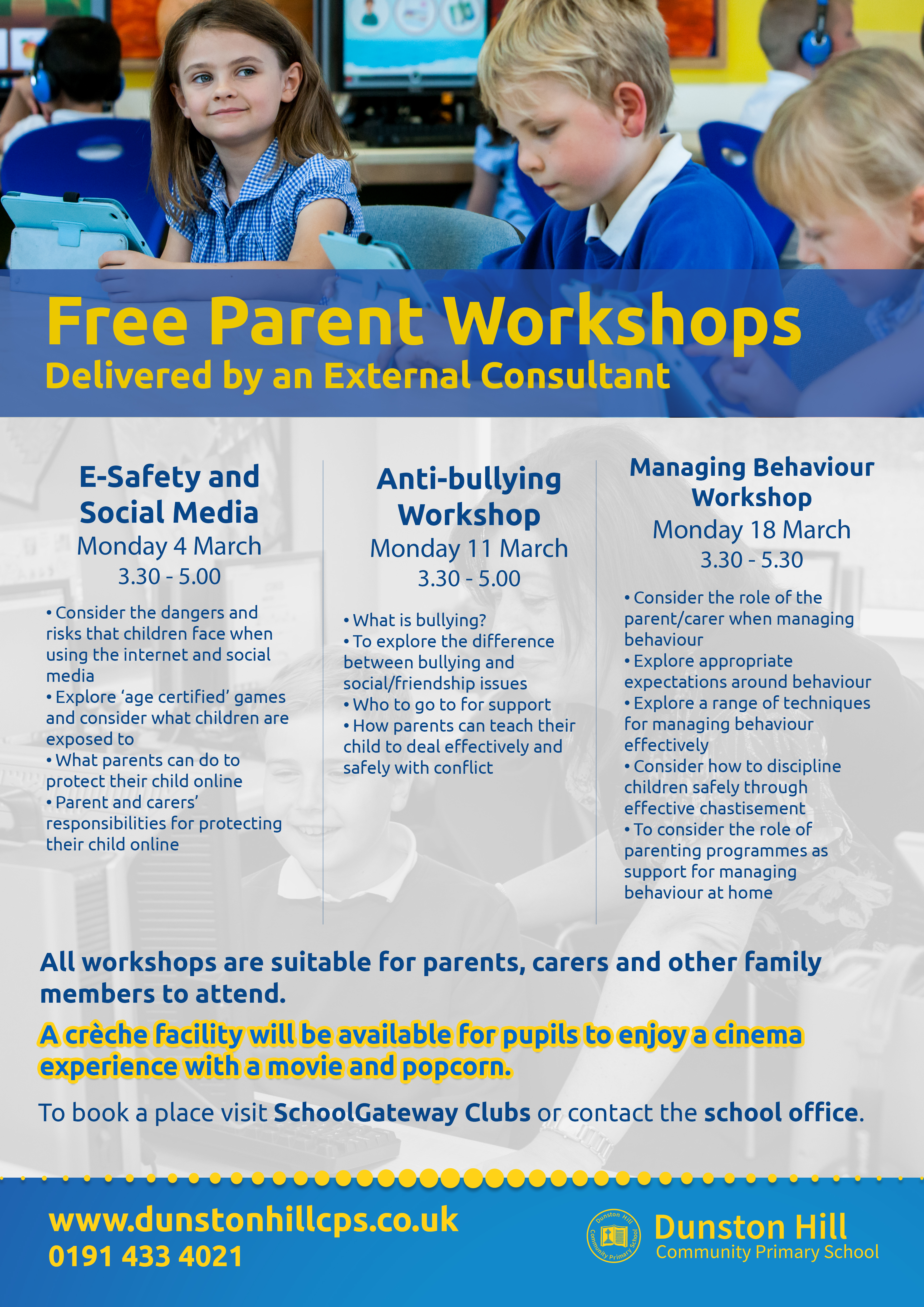 Parent Workshops - March 2019 2nd