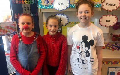 Wearing red for Red Nose Day: Comic Relief 2019