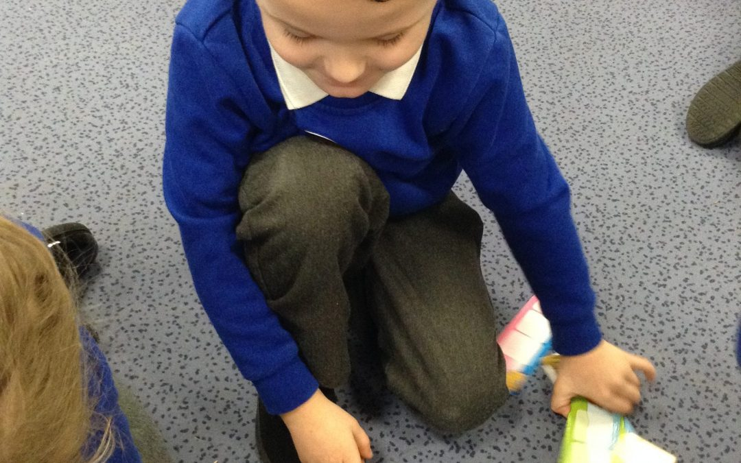 Making words in Reception.
