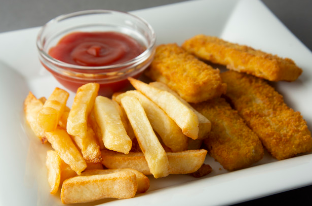 British Fish and Chips themed lunch