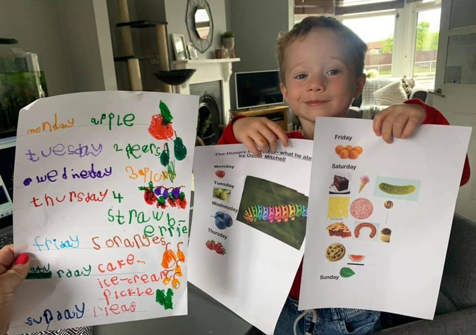 Reception – Home Learning Writing
